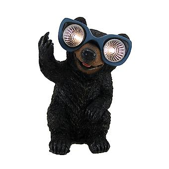 Naughty Bear Solar Eyes LED Light Statue