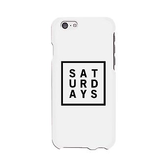 Saturday White Phone Cases For Apple, Samsung Galaxy, LG, HTC Gift Ideas