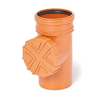 Gutter Flush System Cleanouts with Strainer 110mm Pipe Diameter Orange Color