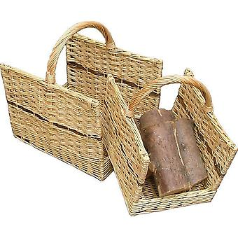 Set of 2 Open End Log Baskets