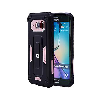 32e harde Defender case voor de Samsung Galaxy S6 Edge (SM-G925) - Rose Gold