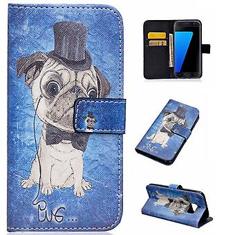 Cover wallet pattern 85 for Samsung Galaxy S7 G930 G930F