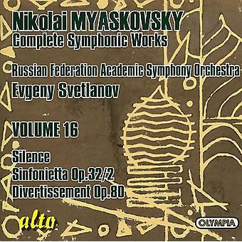 N. Myaskovsky - Nikolai Myaskovsky: Complete Symphonic Works, Vol. 16 [CD] USA import