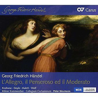 G.F. Händel - Georg Friedrich H Ndel: L'Allegro, Il Penseroso Ed Il Moderato [CD] USA importerer