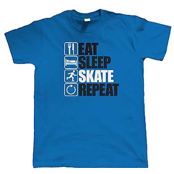 Eat Sleep Skate Repeat, Mens Funny, Sporting T Shirt