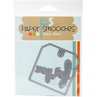 Paper Smooches Die-For You Tag J1D362
