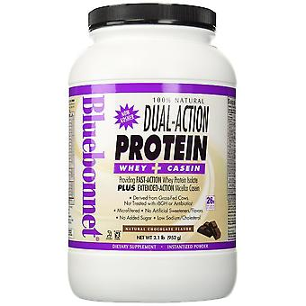 Bluebonnet 100% Natural Dual Action Protein Powder Chocolate Flavor 2.1 Lbs