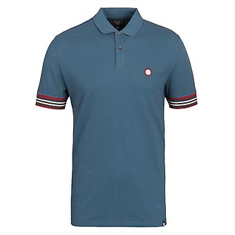 Pretty Green Rivington Dark Blue Short Sleeve Pique Polo Shirt