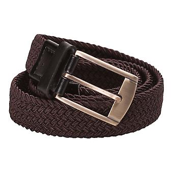 Hawkdale Elasticated Stretch Weaved Belt Trouser Belts w/ Leather Keeper 8R-F29