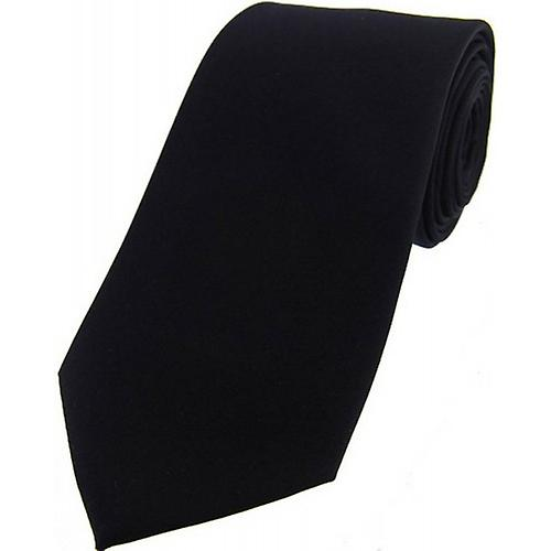 David Van Hagen Satin Silk Tie - Black