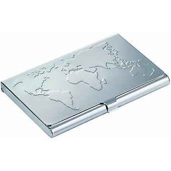 Trojkan Business World Business Card Case - Silver