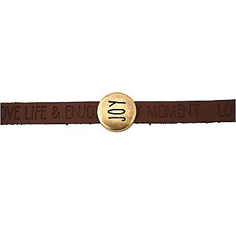 Damen - Armband - Joy - Happy - WISHES - Braun - Dunkel - Magnetverschluss