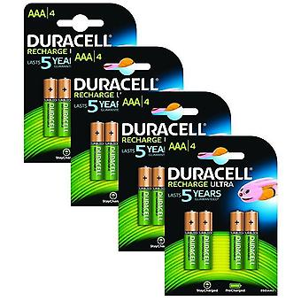 Duracell 850mAh Pre Charged Rechargeable AAA Batteries - Pack of 16