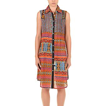 Iconique IC7-026 Women's Orange Aztec Camisole Beach Dress