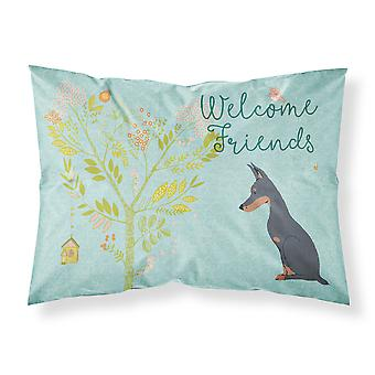 Welcome Friends Doberman Pinscher Fabric Standard Pillowcase