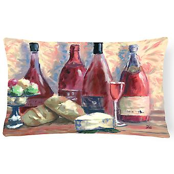 Wine and Cheese by David Smith Fabric Decorative Pillow