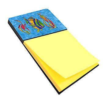 Carolines Treasures  8713SN Troical Fish and Seaweed on Blue Sticky Note Holder