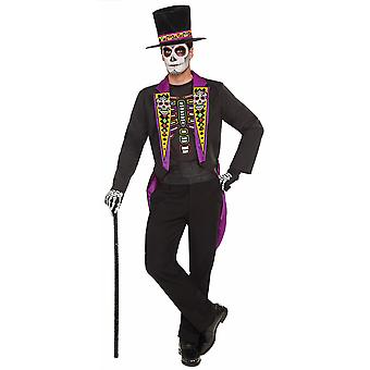 Day Of The Dead Formal Tuxedo Suit Mexican Skeleton Spanish Mens Costume Plus