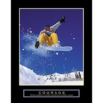 Courage - Snowboarder Poster Print (22 x 28)