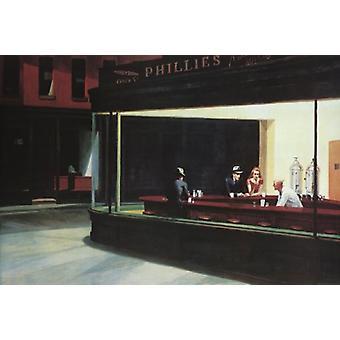 Nighthawks Poster Print by Edward Hopper (36 x 24)