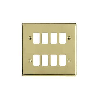 Hamilton Litestat Hartland Polished Brass 8g Apert Gridfix Plate+Grid