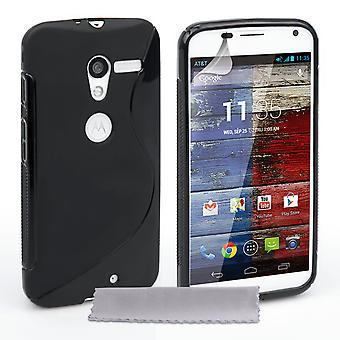 Caseflex Motorola Moto X Silicone Gel S-Line Case - Black