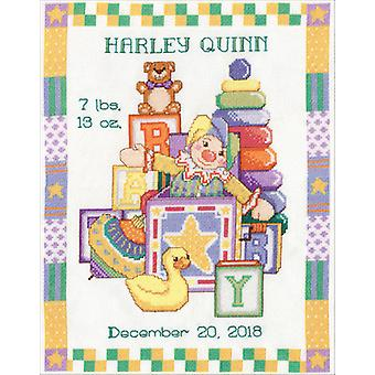 Toys Sampler Birth Record Counted Cross Stitch Kit-11