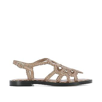 Pons Quintana ladies 5877DIANAMETALRAME gold leather sandals