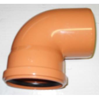 Soil Pipe 160 mm - 90 degree Bend - Push-Fit - Underground - Brown - 6