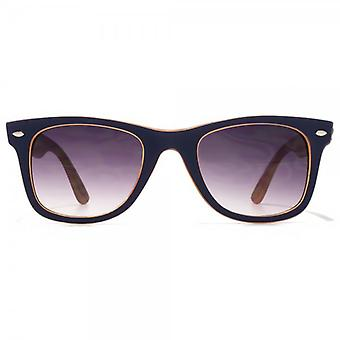 Steelfish Tinitone Retro Sonnenbrille In Marine auf Orange