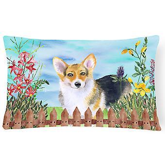 Pembroke Corgi Spring Canvas Fabric Decorative Pillow