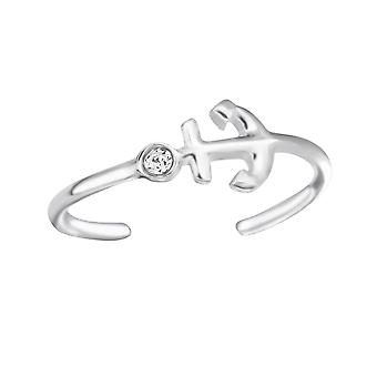 Anchor - 925 Sterling Silver Toe Rings - W24647x
