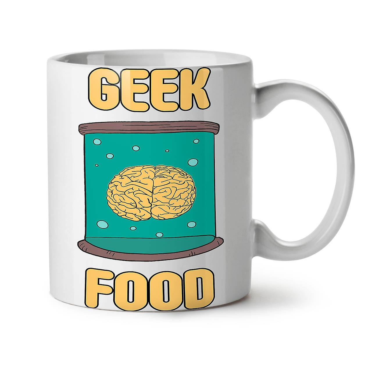 Coffee New Ceramic OzWellcoda Geek Smart Mug 11 Eat Brain White Tea DHeE29IWY