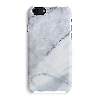 iPhone 7 Full Print Case - Marble white