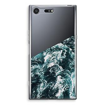 Sony Xperia XZ Premium Transparent Case (Soft) - Ocean Wave