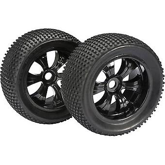 Absima 1:8 Truggy Wheels Dirty 6-spoke
