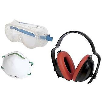 Protective ear caps Wolfcraft 1 Work safety kit 4871000 1 p
