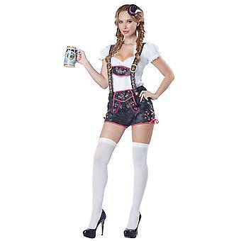 Flörtig Lederhosen öl piga Tavern bayerska Tyskland Oktoberfest Womens kostym