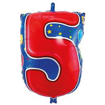 Foil balloon number 5 birthday anniversary new year's Eve new year balloons about 56 cm