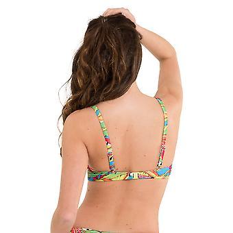 LingaDore 2916BT-154 Women's Carnaval Multicolour Motif Swimwear Beachwear Bikini Top