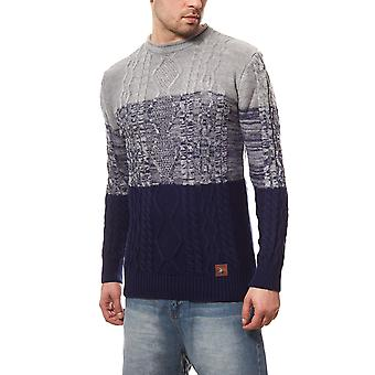 Tazzio fashion sweater mens knitted sweater grey round neck