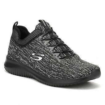 Skechers Womens Black/ Charcoal Ultra Flex Bright Horizon Trainers
