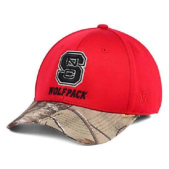 NC State Wolfpack NCAA TOW Region Camo Stretch Fitted Hat