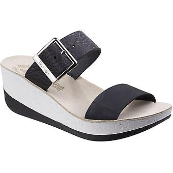 Fantasy Womens/Ladies Artemis Buckle Up Summer Platform Wedge Sandals
