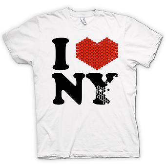 Womens T-shirt - I Love Heart New York - NY