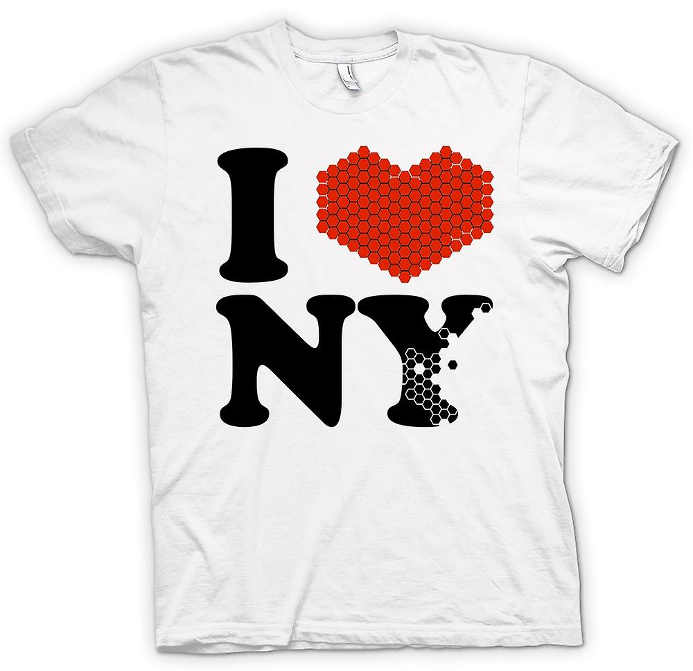 Womens T-shirt - I Love Heart New York - NY