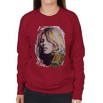 Sidney Maurer Original Portrait Of Kate Moss Army Jacket Women's Sweatshirt