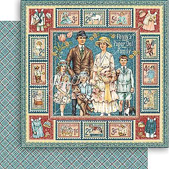 Penny's Paper Doll Double-Sided Cardstock 12
