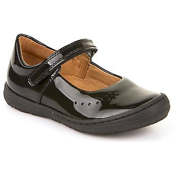 Froddo Girls G3140053-1 School Shoes Black Patent