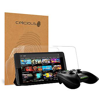 Celicious vivido invisibile Glossy HD Screen Protector Film compatibile con Nvidia scudo [Pack 2]